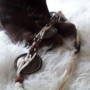 Vintage brass rope high waisted belt